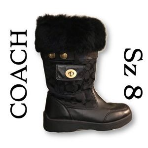 Coach Kimberly boot with real rabbit fur/leather